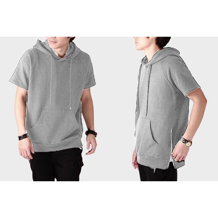 Jaket Hoodie Polos Lengan Pendek Adidas Short Sleeve Hoodie Adidas | Shopee Indonesia