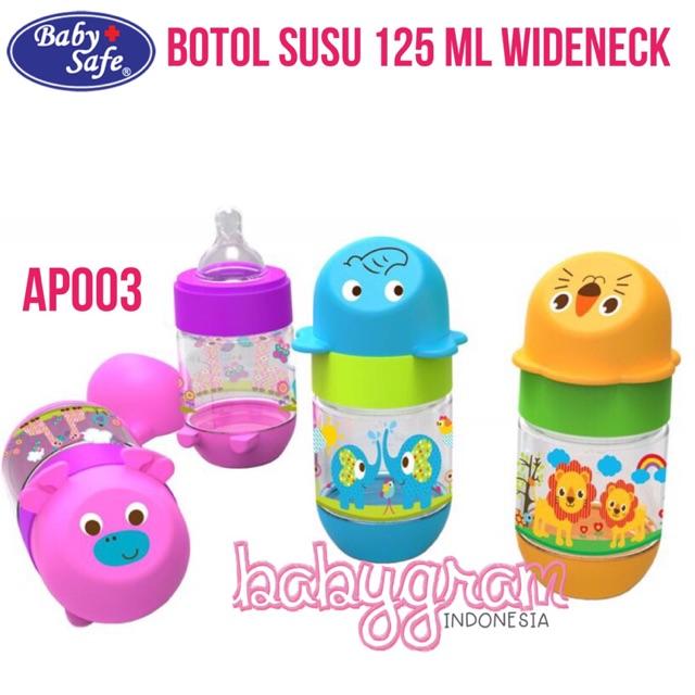 Botol Susu Bayi Baby Safe AP001 Slim Neck Character 125ml / Babysafe Milk Bottle   Shopee Indonesia