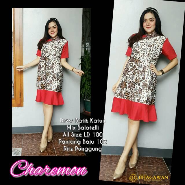 Dress Batik Kombinasi Dress Party Dress Pesta Dress Batik Modern Dress Batik Kerja Baju Kantor
