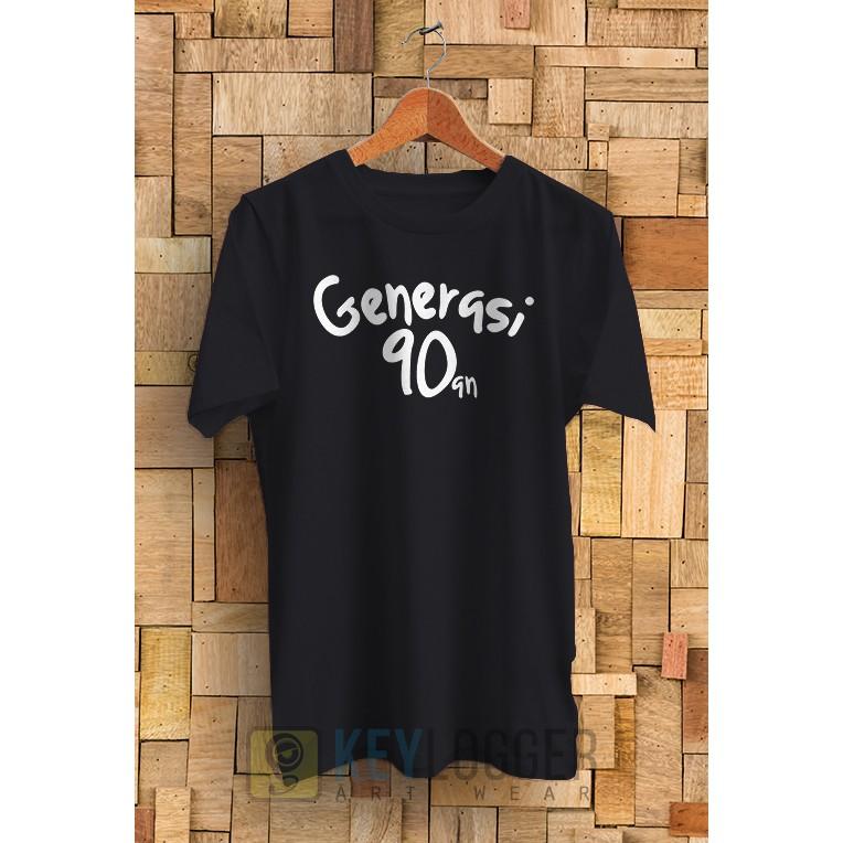 Kaos Kata Generasi 90an Simpel 13 | Shopee Indonesia