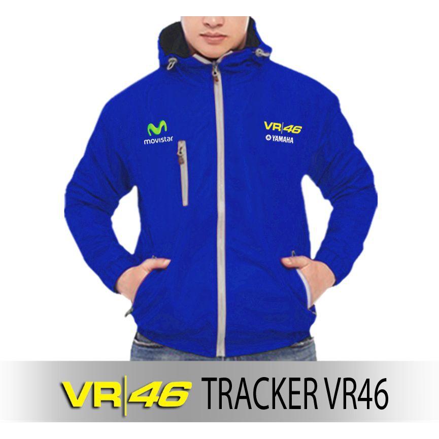 Jaket Tracker Hoodie MotoGP VR46 Valentino Rossi Warna Biru Jaket Murah Windbreaker Jaket Motor | Shopee
