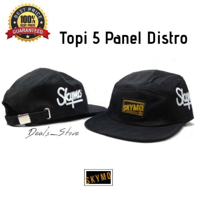 Topi 5 Panel Distro Snapback Baseball Skymo BAHAN ORI Rafel