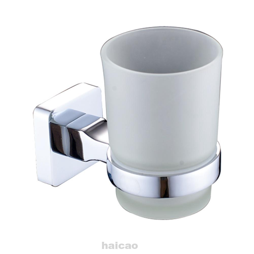 Toothbrush Holder Bathroom Organizer Wall Mounted Accessories Home Hotel Square Glass Cup Shopee Indonesia