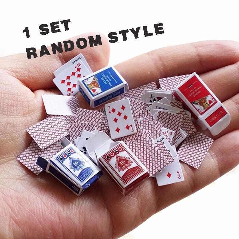 1 Set Mainan Miniatur Kartu Poker Mini Skala 1 12 Untuk Rumah Boneka Acak Shopee Indonesia