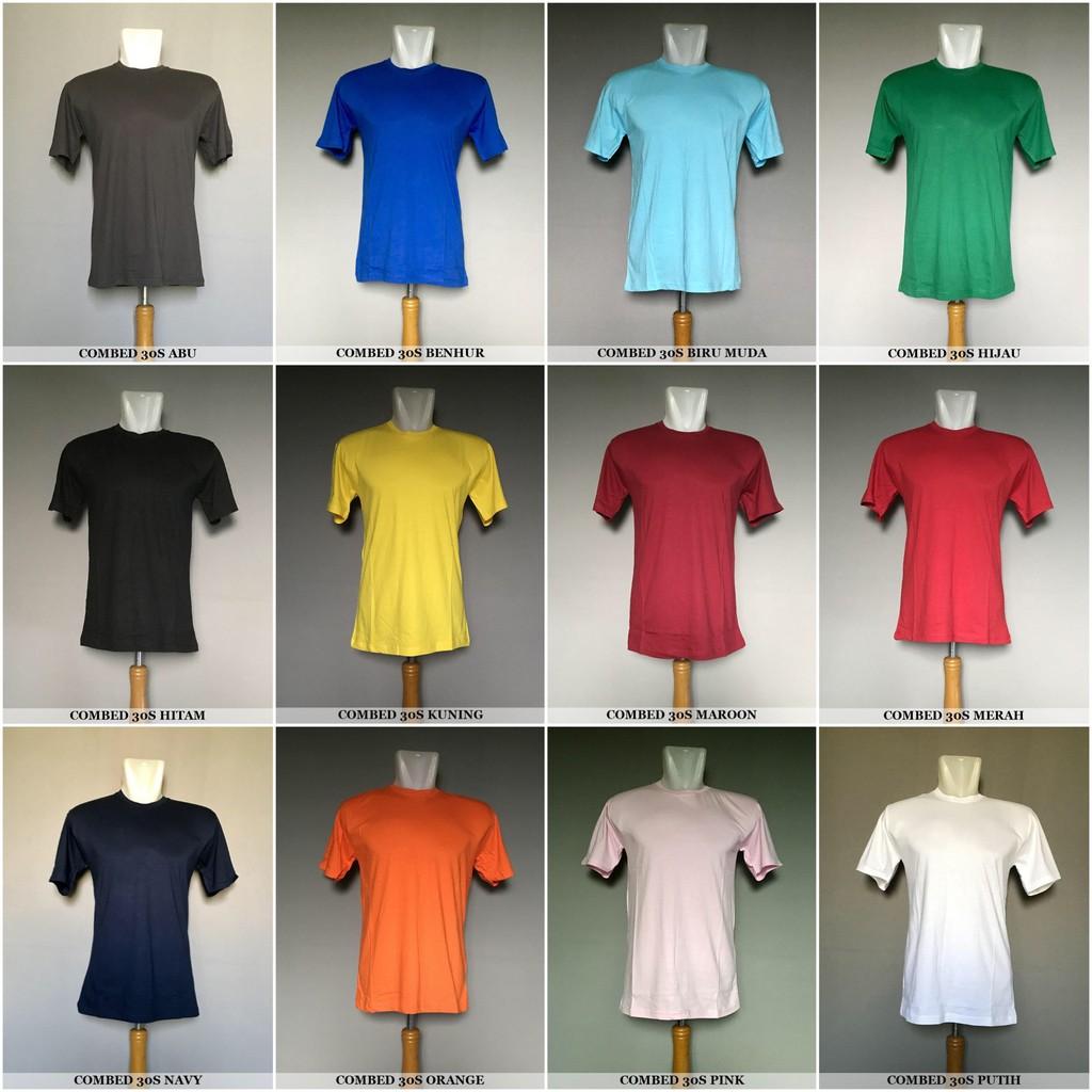 Kaos Polos Grosir Asli Cotton Combed 30s Premium Bandung Size S M Pria Katun Lengan Panjang Warna Merah Marun L Shopee Indonesia