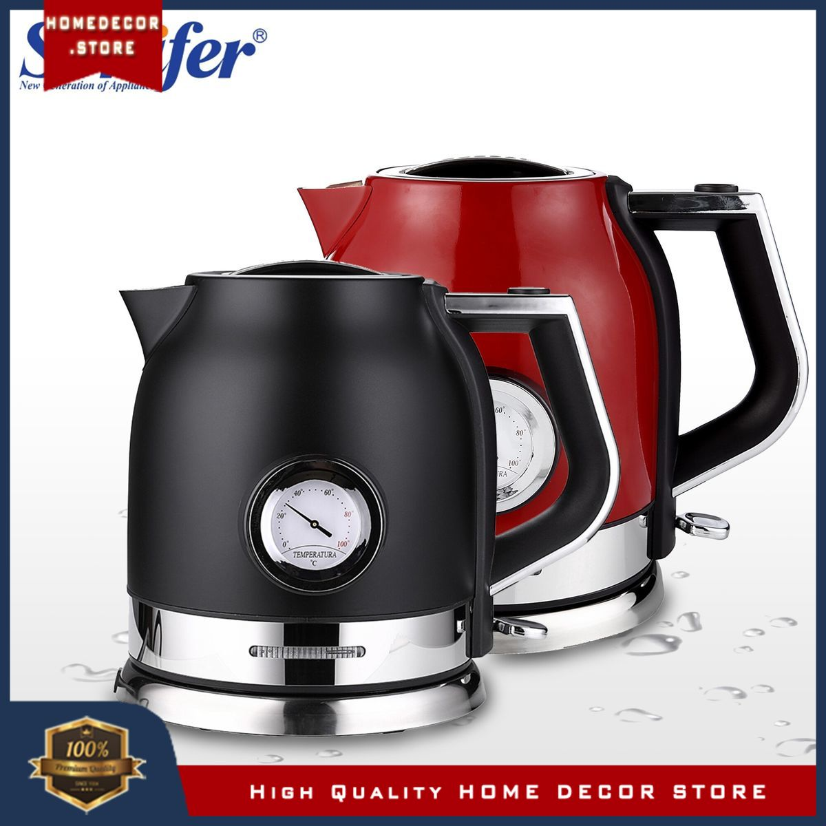 1.8l Electric Kettle Stainless Steel Kitchen Smart Whistle Kettle Samovar Tea pot With Water Tempera
