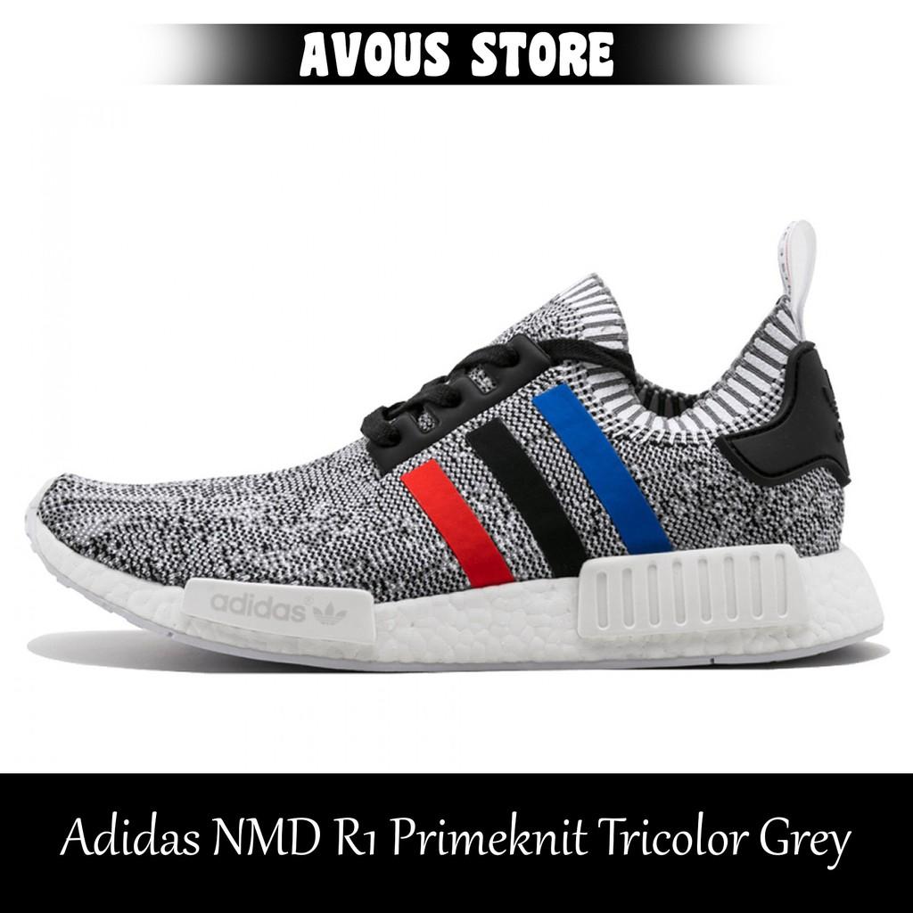 384313bde Sepatu Pria Adidas NMD R1 Primeknit Tricolor Black