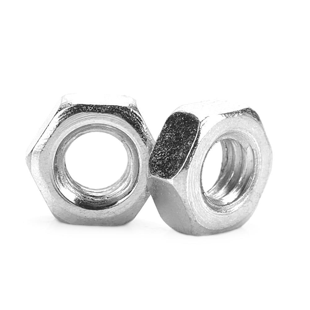 M5 100pcs//Set Metric Thread Hex Hexagonal Nuts M2//M2.2//M3//M4//M5 Black Zinc Plated Carbon Steel Hex Nuts Kits for Machine Fastener