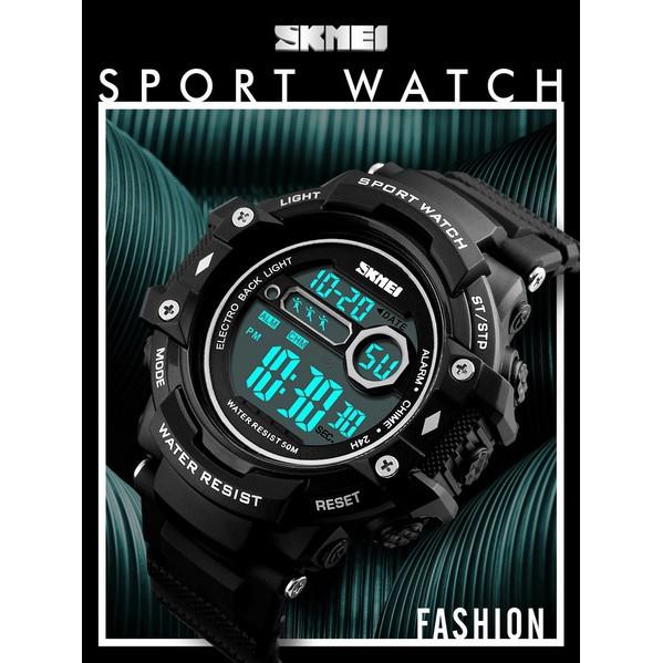 Jam Tangan Olahraga Pedometer Heart Rate SKMEI Original Bisa dipakai renang Stopwatch - DG1180S | Shopee Indonesia