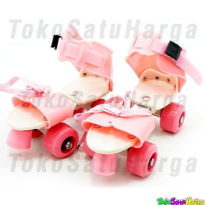 Sepatu Roda 4 Anak   Dry Skate + Tas - Pink  bdf56548d3
