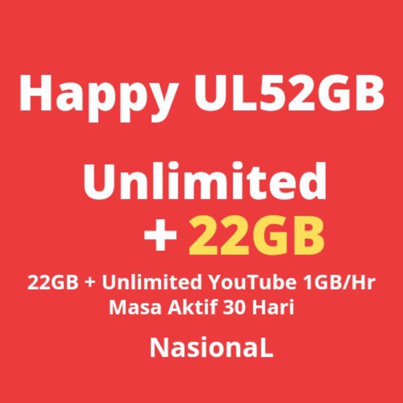 Inject Kuota Tri 52 GB Tri 22Gb + Unlimited Youtube