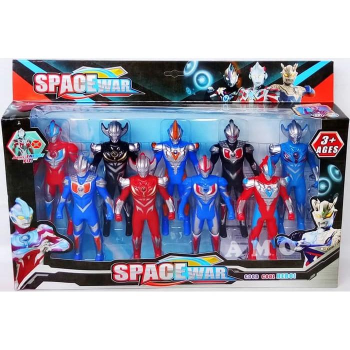 Figure Set Ultramen 9 Pcs Mainan Ultraman Ginga