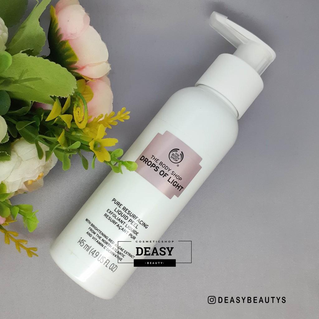 Share In The Body Shop Drops Of Light Pure Resurfacing Liquid Peel Brightening Serum Shopee Indonesia