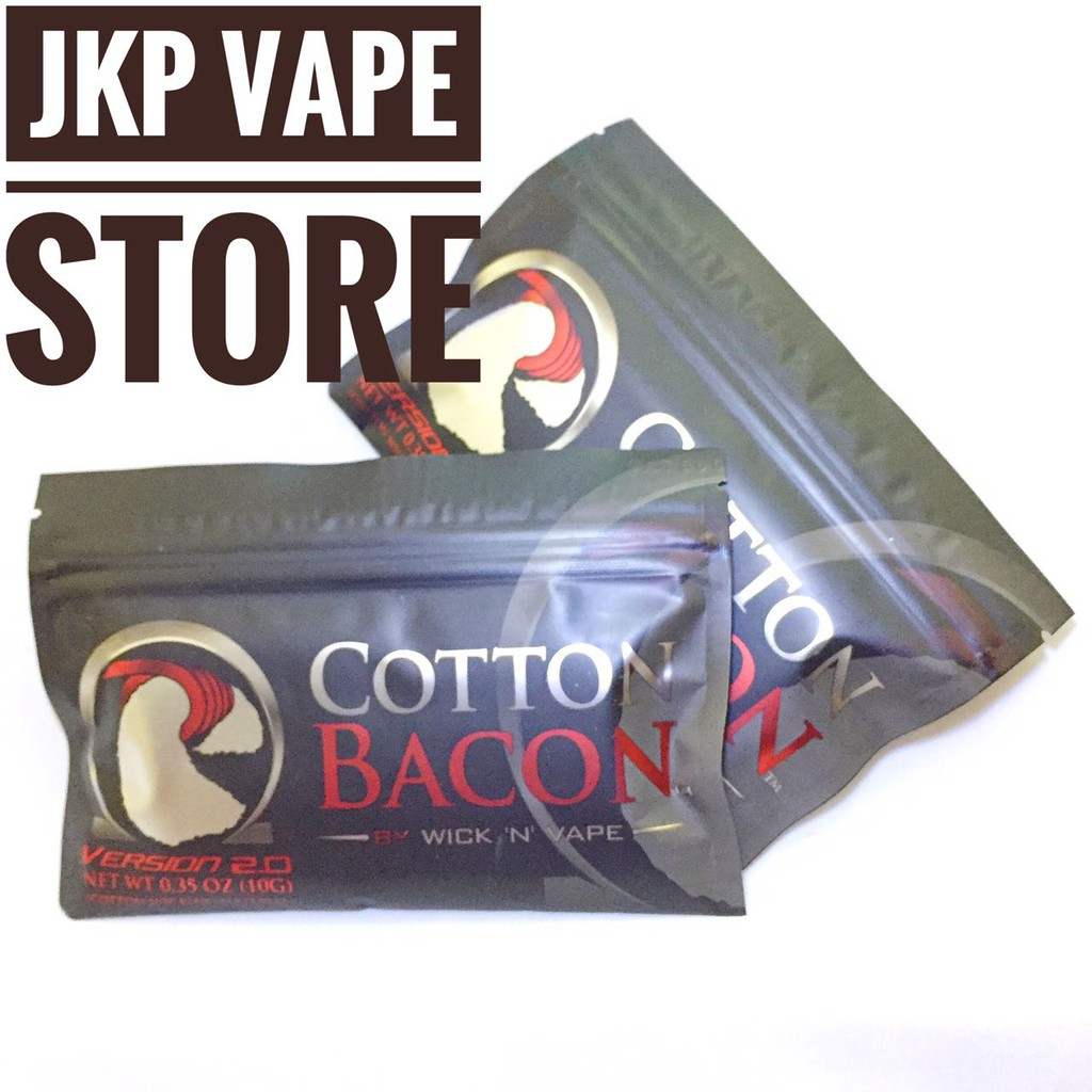 Authentic ORGANIC COTTON BACON PRIME BY WICK N VAPE Kapas Vape Vapor | Shopee Indonesia