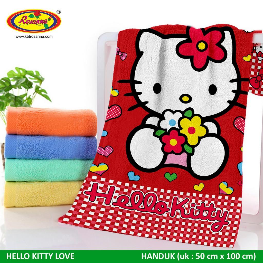 Handuk Rosanna Printing Panel 72x145 Kitty ...