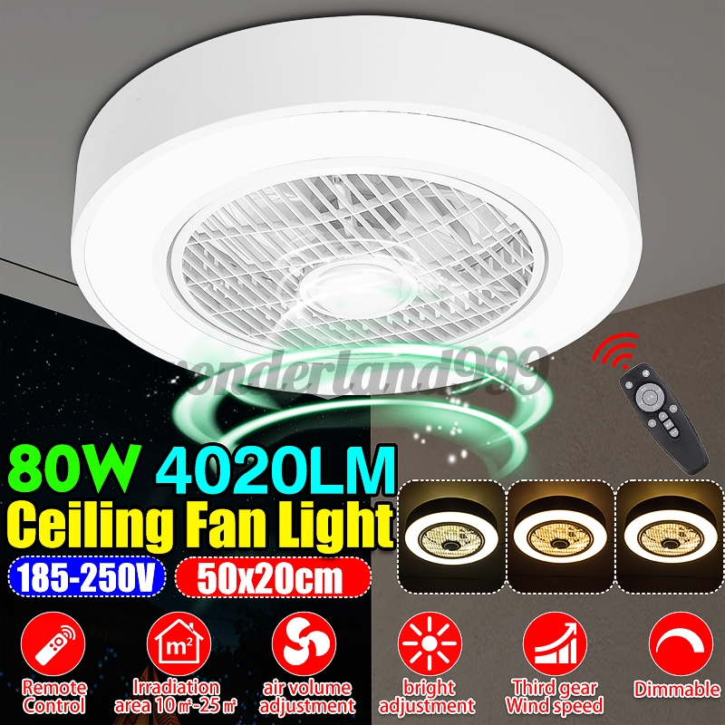 80w Ceiling Fan Light Remote Control Led Light Dimmable Bedroom Office Home Ceiling Fan Light Remote Control Led Light Dimmable Shopee Indonesia
