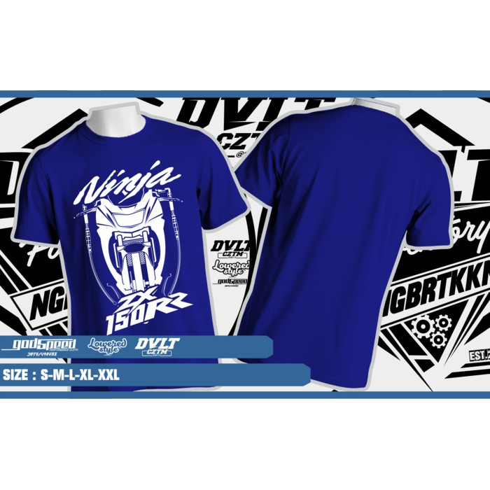 Kaos T-shirt Kawasaki Ninja 150RR New Design -- D2K Clothing ... 43ba85fb1f