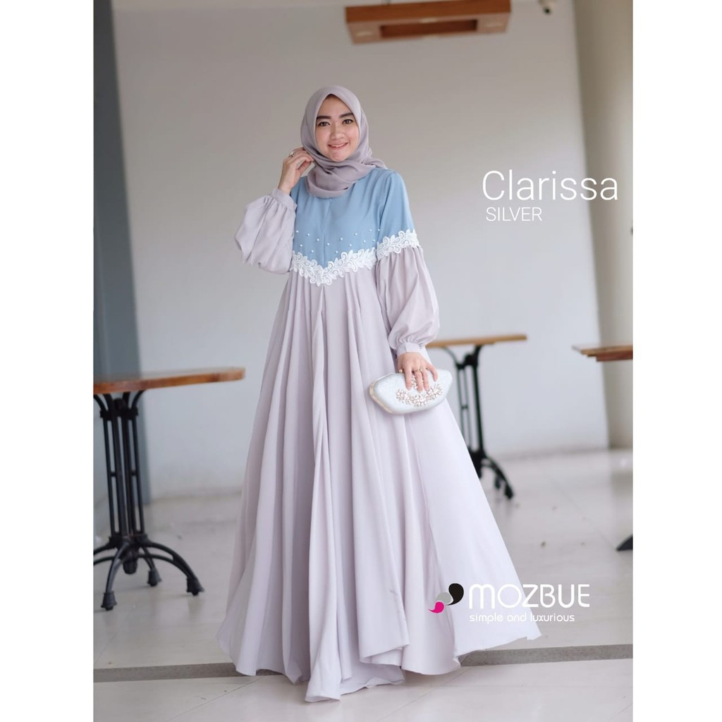Baju Gamis Clarissa Baju Muslim Wanita Terbaru Dress Muslim Syari Baju Syar I Shopee Indonesia