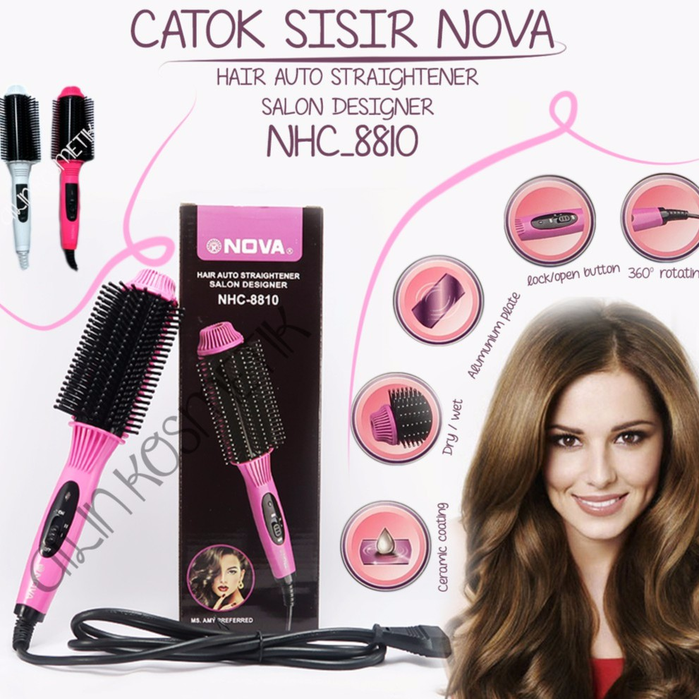 PROMO AT Catok Rambut 3 in 1 Bisa Untuk Curly Blow Lurus Professional Hair  Style  a9c6453080