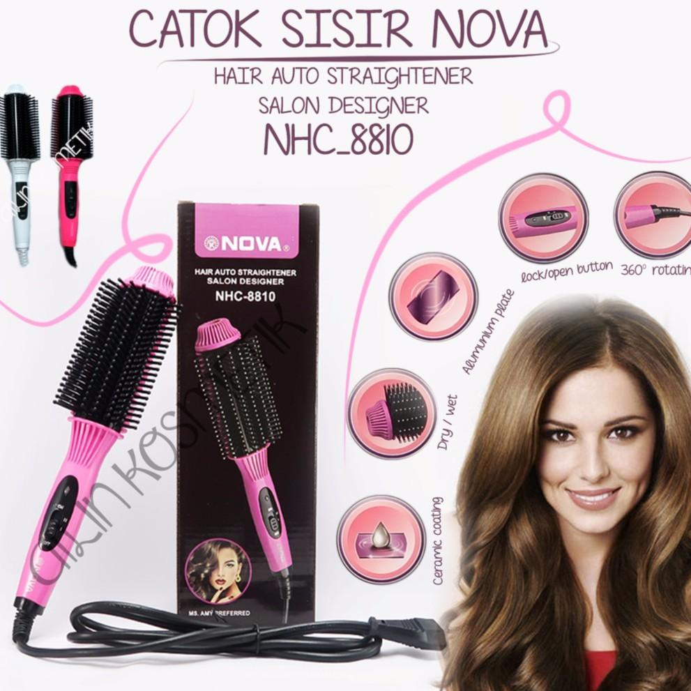 Catokan Sisir Blow Nova LS189 Electric Hair Dryer Pelurus Rambut Catok  Curly Keriting Comb Style  2c295c56a4
