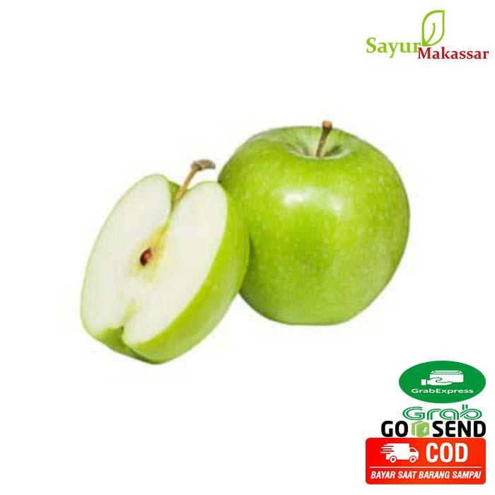 Buah Apel Hijau 1 Kg / Granny Smith Import / Fresh Green Apple Makassar