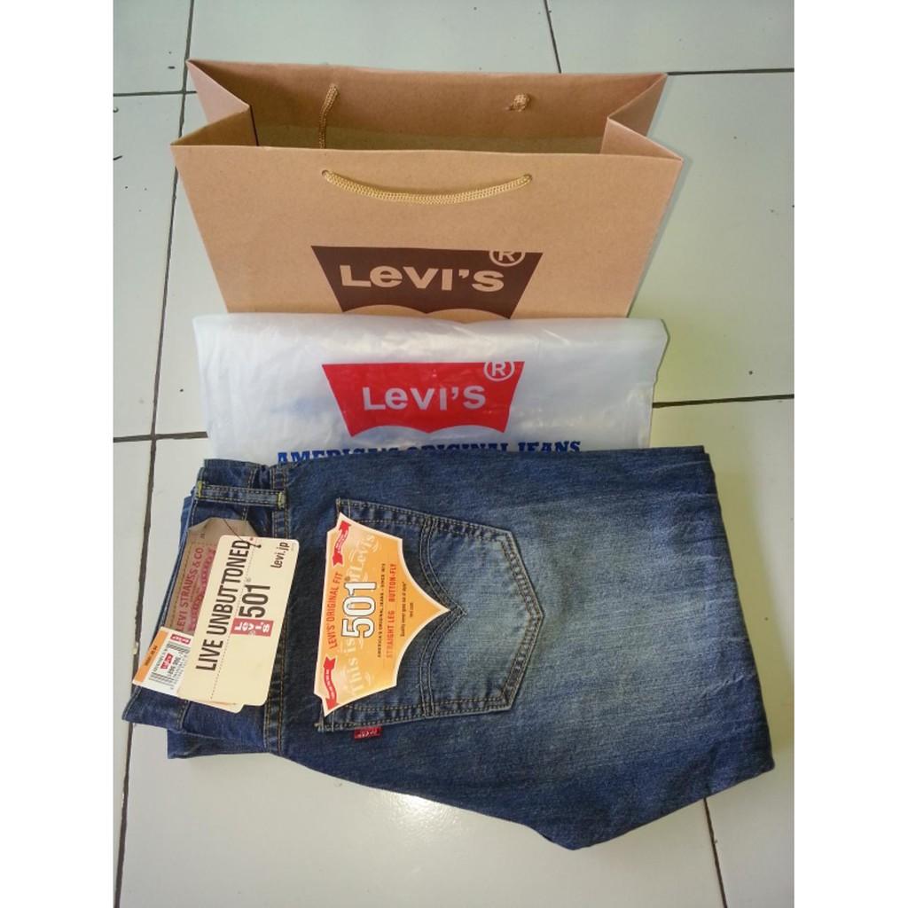 Levis 501 Customized Tapered Shock 36197 0013 Shopee Indonesia 501r Original Fit Crispy Rins 00501 1484 Biru 34
