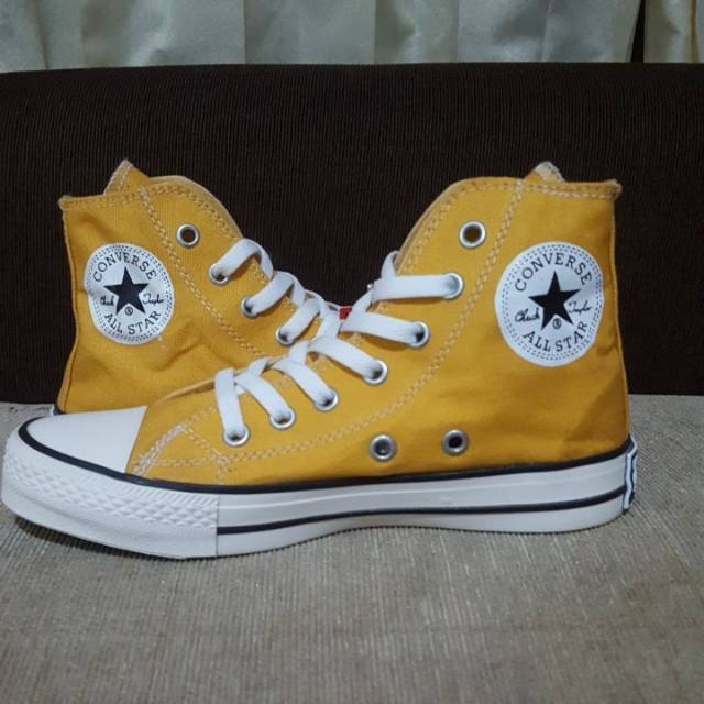 Sepatu Converse Allstar Kuning Yellow High Shopee Indonesia