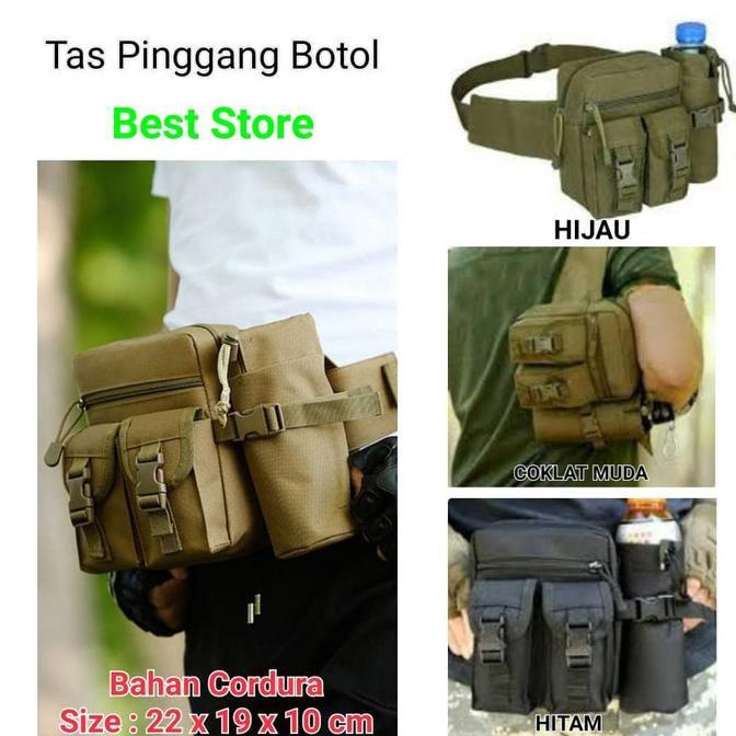 New Product Tas Pinggang Tactical Botol Samping Waist Bag Army Free Ongkir | Shopee Indonesia