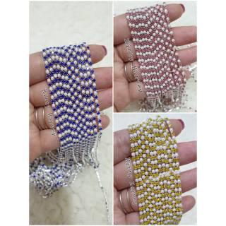 100cm Diamond String mix pearl thumbnail