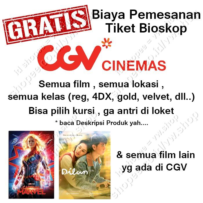Kirim Di Chat Tiket Nonton Biskop Cgv Cinemas Aladdin Avengers