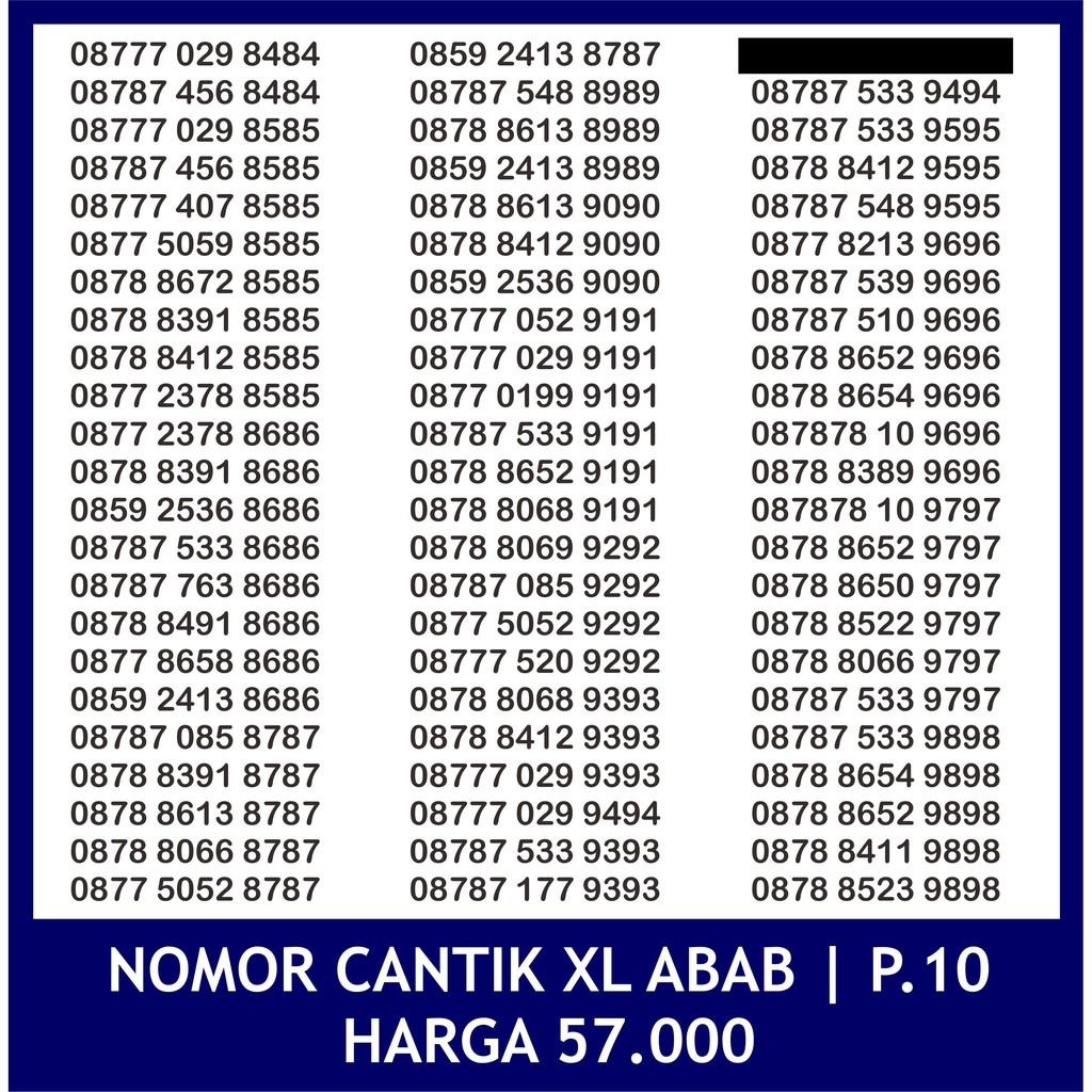 Nomor Cantik XL abab P.2 - Nomer cantik XL abab