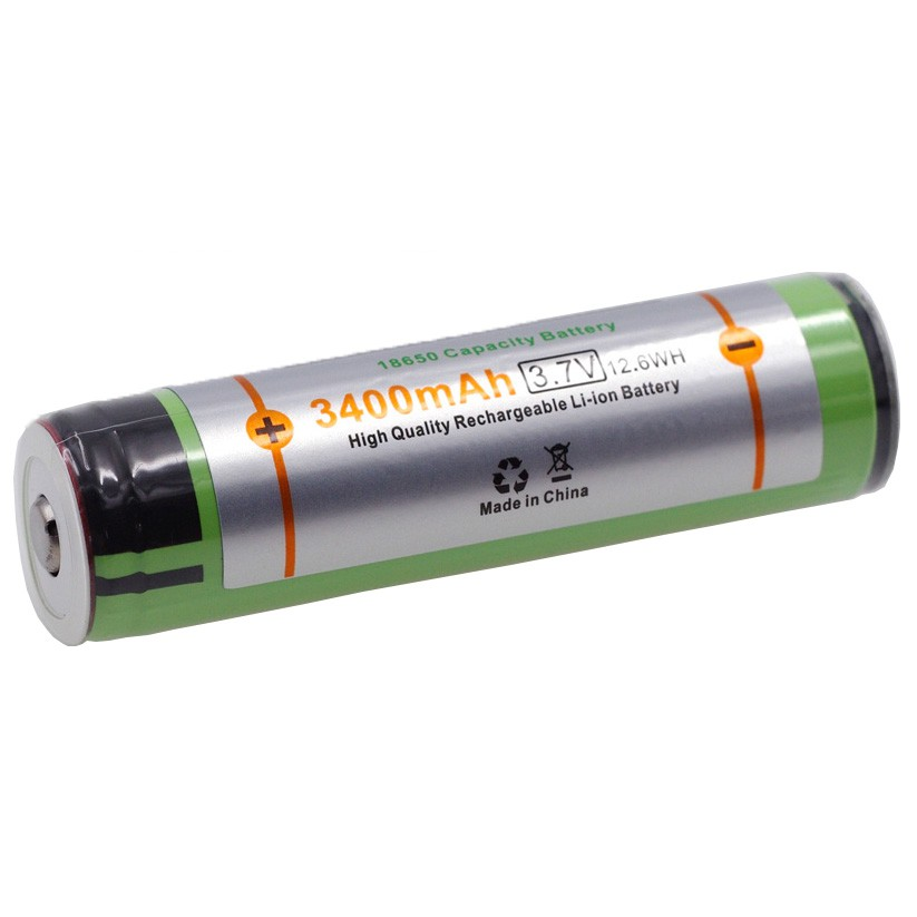 Lithium Ion Battery >> Varicore 18650 Rechargeable Li Ion Battery 3400mah 3 7v Button Top