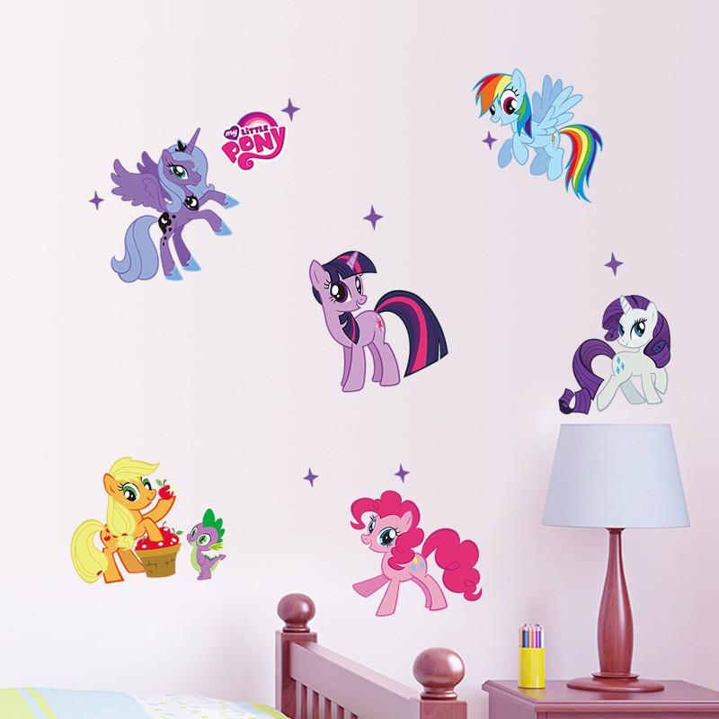 Stiker Dinding Diy Removable Motif Karakter Kartun My Little Pony Untuk Dekorasi Kamar Ana Long Shopee Indonesia