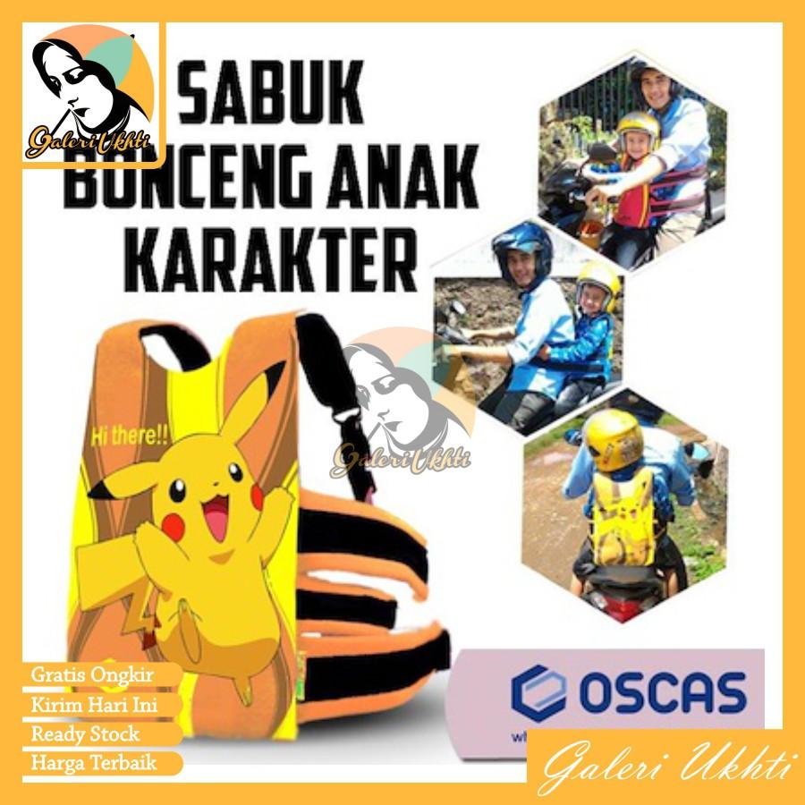 Oscas Sabuk Bonceng Motor Anak Karakter Kartun Asli Bandung Bangku Bonceng Sabuk Pengaman Naik Motor