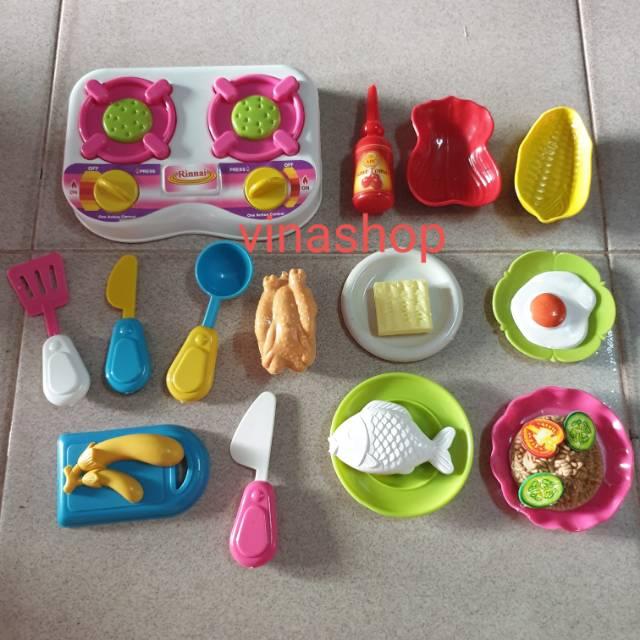 Ks68 Mainan Masak Masakan Mini Resto Dapur Mama Cooking Mama Ayam Panggang Ikan Indomie Telor Sayur Shopee Indonesia