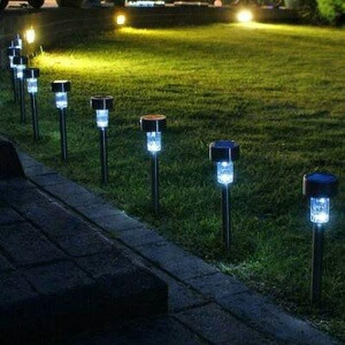 Tp437 Lampu Taman Led Menggunakan Tenaga Surya Atau Solar Cell Tanpa Shopee Indonesia