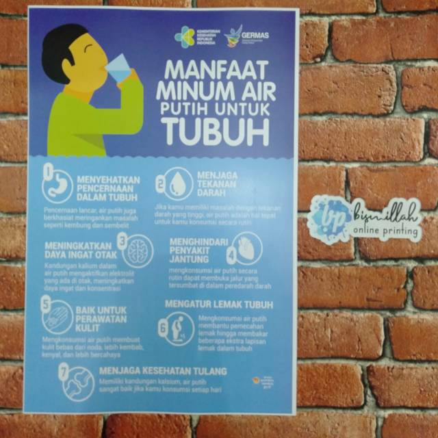 Poster Kesehatan Manfaat Minum Air Putih Shopee Indonesia