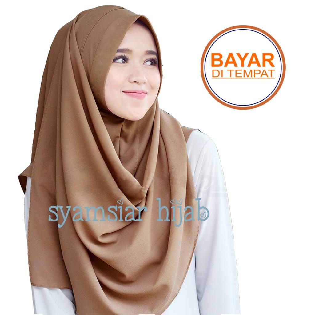 JILBAB INSTAN SALWA 2 LAPIS / PASHMINA INSTAN / KERUDUNG INSTAN / HIJAB INSTAN / PALING MURAH | Shopee Indonesia