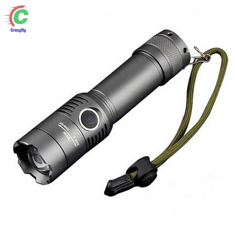 T6 Tactical Police 200000LM LED Flashlight Aluminum Torch Zoomable Lamp IPX6