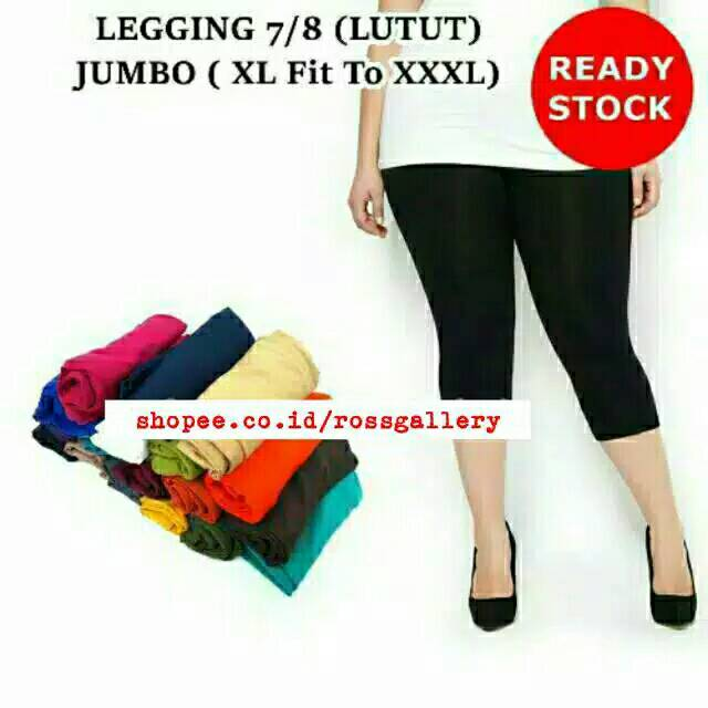 Celana Legging Wanita Selutut 7 8 Ukuran Jumbo Shopee Indonesia