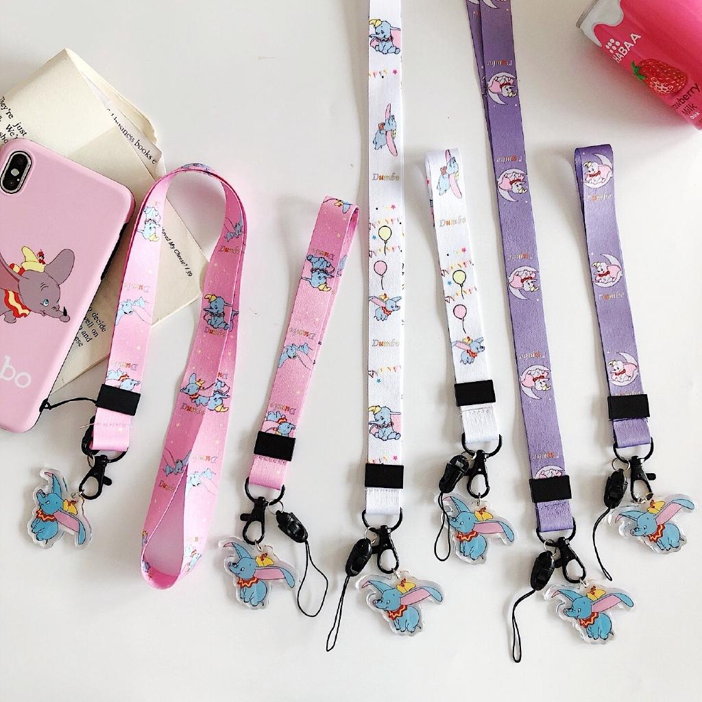 kalung tali panjang dengan liontin kartun dumbo untuk wanita