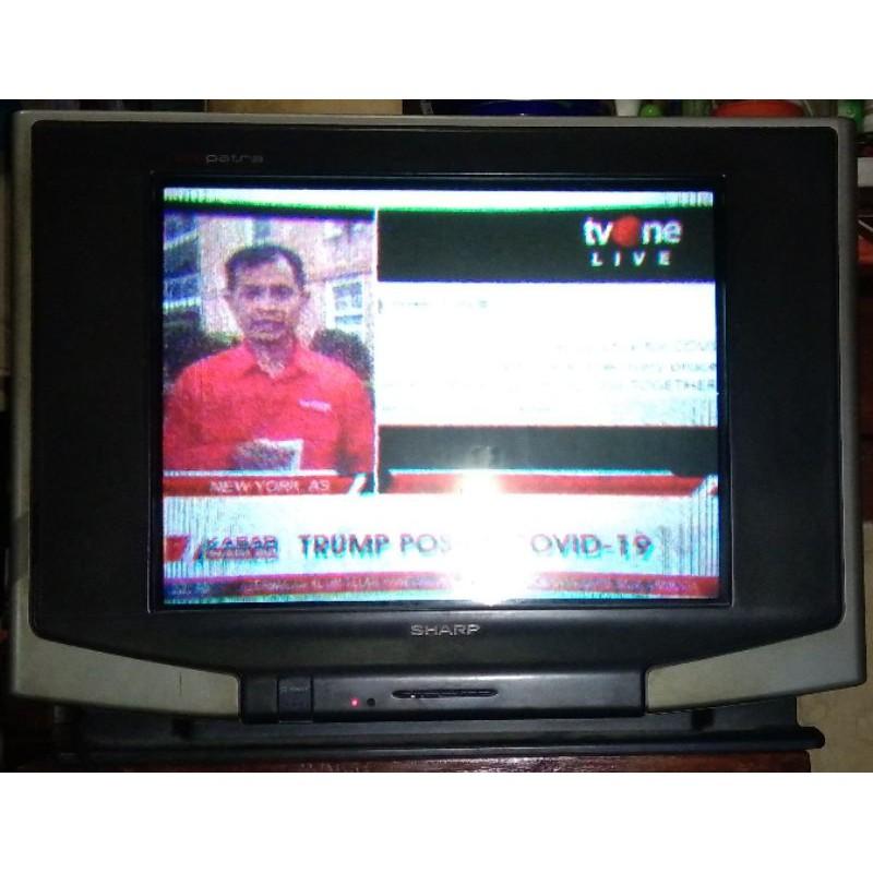PRELOVED TV TABUNG SHARP 21 INCH + REMOT