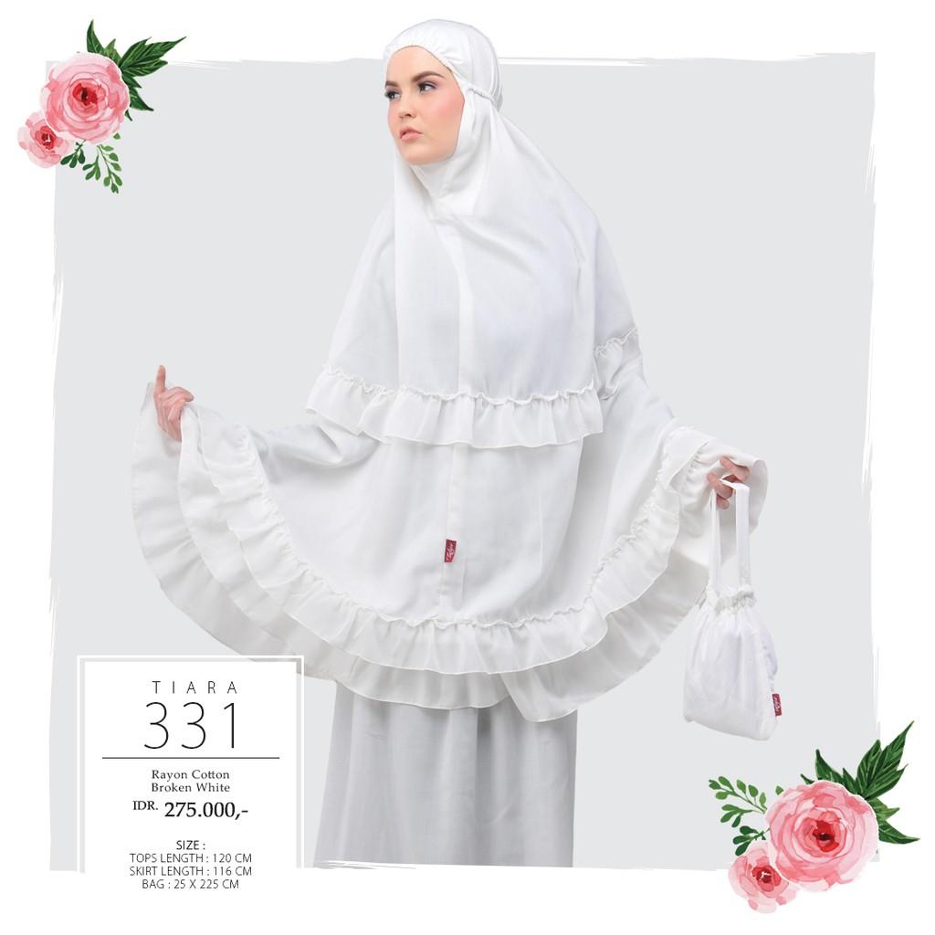 Mukena Tatuis Tiara 301 Polycotton Katun Adem Polos Abu Grey Putih 330 Peach Broken White Renda Pink Travel Shopee Indonesia