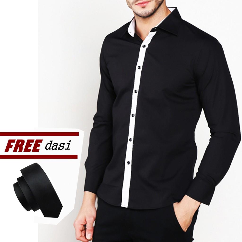 Vm Kemeja Batik Modern Casual Slimfit Panjang Daftar Harga B 185 Putih Polos Fashion Slim Katun Shopee Indonesia