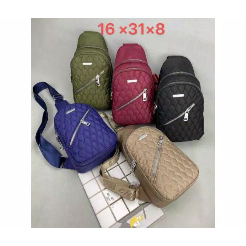tas waistbag chibao / tas wb chibao / tas dada chibao / tas waisbag wanita impor