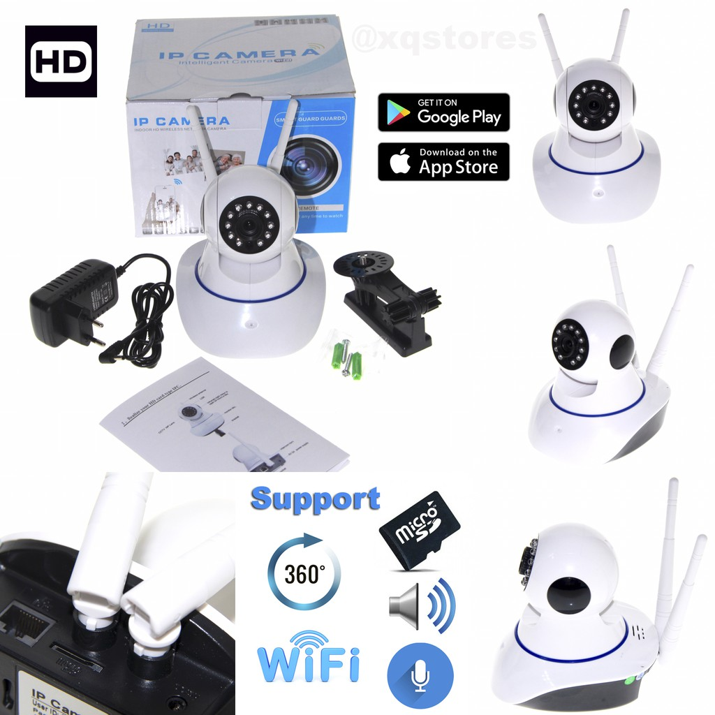 Ip Camera Cctv Wifi 13mp With Yoosee Yy2p App Shopee Indonesia Hd 720p
