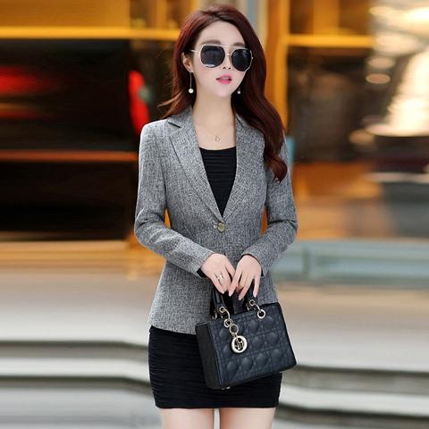 Jaket Wanita Casual Slim Lengan Panjang untuk Musim Gugur | Shopee Indonesia