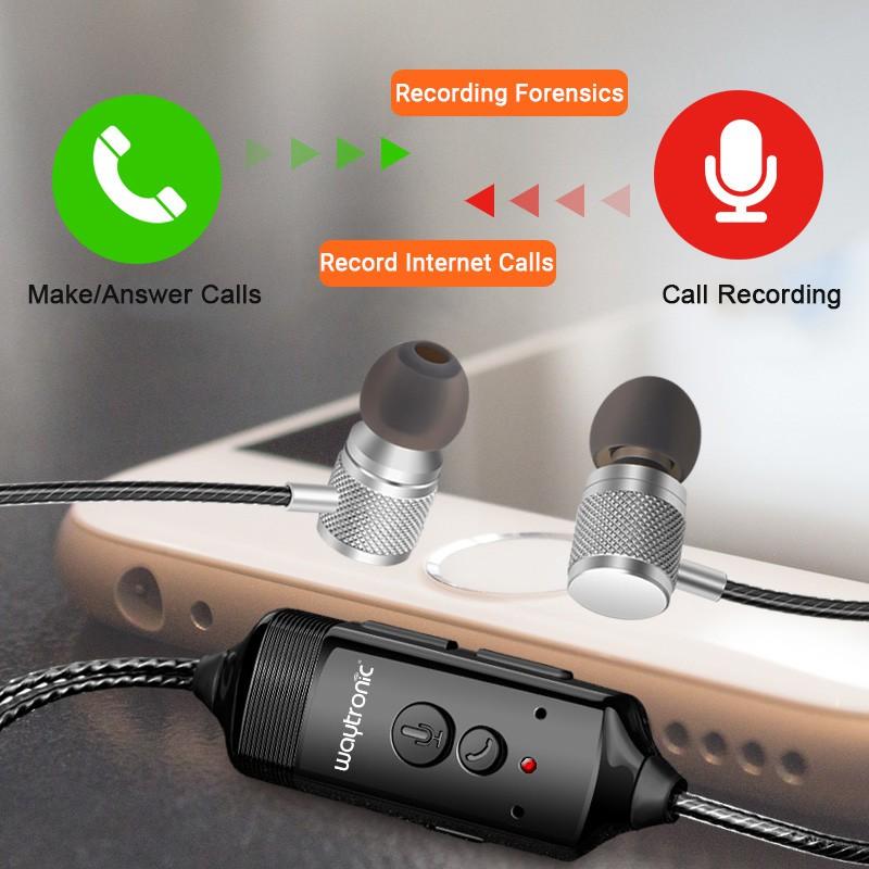 Waytronic Mobile Phone Call Recorder Earphone 3 5mm Jack