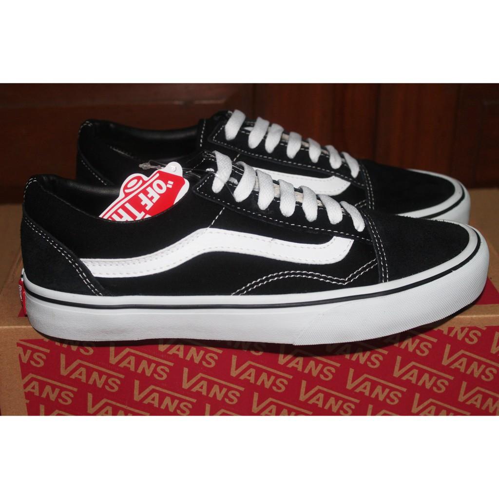 a68563ac7dca4d Vans Classic Sk8 Old Skool Black White Hi OS BW High Hitam Putih Sepatu  Tali Tinggi Pria Wanita