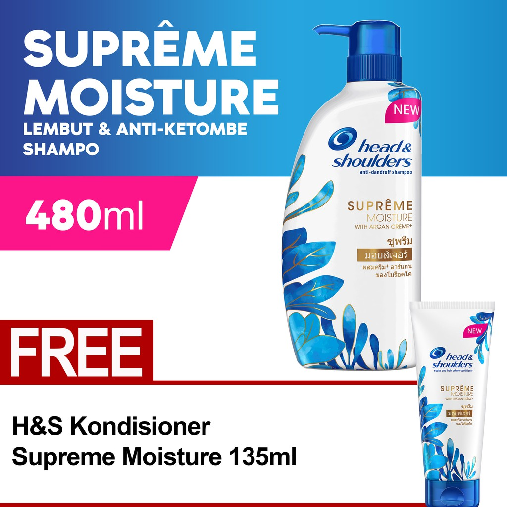 Up To 63 Discount From Brand Head Shoulders Shampoo Cool Menthol 330ml Supreme Moisture 480ml Free Conditioner 135ml
